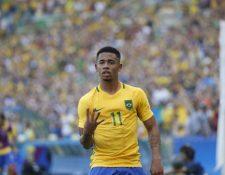 El delantero brasileño Gabriel Jesús sería de las principales una de las ausencias en los juegos Olímpicos de Tokio 2020 si no se cambia el reglamento Foto Prensa Libre: AFP