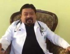 El supuesto médico Rodolfo García. (Foto: Captura de redes sociales)