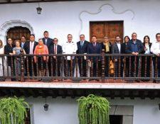 Alejandro Giammatti se reunió con el sector justicia para discutir reformas al SP. (Foto Prensa Libre: Alejandro Giammattei / Twitter)