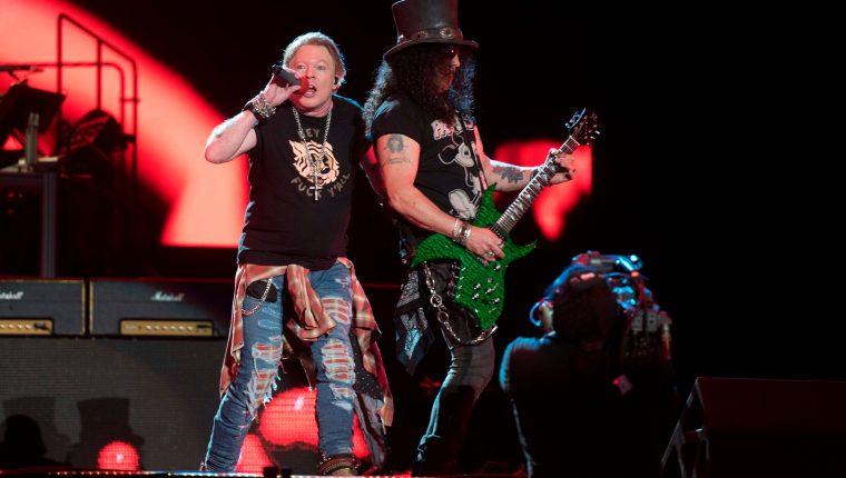 Guns N´ Roses, durante una presentación en México el 14 de marzo de 2020. (Foto Prensa Libre: Hemeroteca PL)