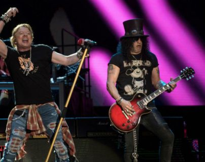 Guns N Roses se presentó el sábado 14 de marzo en el Festival Vive Latino en la ciudad de México. (Foto Prensa Libre: AFP)