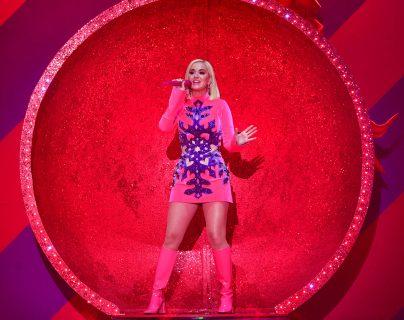 La cantante Katy Perry revela que está embarazada en su último videoclip. (Foto Prensa Libre: AFP)