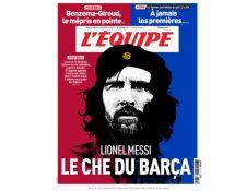 Esta es la portada de L'Equipe para el martes 31 de marzo. (Foto Prensa Libre: Twitter)