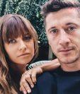 Robert Lewandowski y su esposa Ana. (Foto Prensa Libre: Instagram)