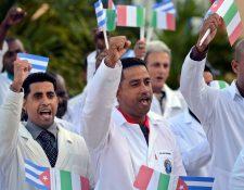 Integrantes de la  brigada médica Henry Reeve brindará  apoyo a Italia ante la crisis por el covid-19. La brigada está compuesta por 52 médicos. r