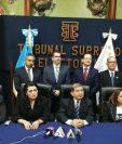 Los nuevos magistrados del TSE asumieron el 20 de marzo. (Foto Prensa Libre: TSE)