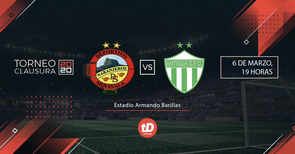 EN DIRECTO   Siquinalá vs Antigua GFC