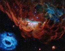 """La imagen que reveló la NASA del telescopio Hubble se llama """"Cosmic Reef"""" (Arrecife cósmico). NASA/ESA"""