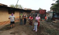 El presidente Alejandro Giammattei ofreció una ayuda de Q1 mil a las familias. (Foto Prensa Libre: Juan Diego González)