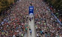 Berlin (Germany).- (FILE) Runners participate in the Berlin Marathon, in Berlin, Germany, 29 September 2019. The Berlin Marathon which was supposed to take place on 27th September has to be cancelled as the Berlin senate decided to forbid all events with 5,000 or more participants until 24 October 2020 due to the coronavirus situation. Nearly 47,000 athletes started in the 46th edition of the race in the German capital 2019. (Maratón, Alemania) EFE/EPA/HAYOUNG JEON *** Local Caption *** 55506543