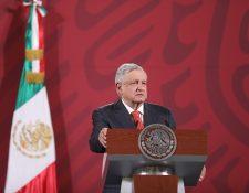 El presidente mexicano Manuel López Obrador anunció el tratado comercial de México, Estados Unidos y Canadá (T-MEC) que vendrá a beneficiar la economía del país. (Foto Prensa Libre: EFE)