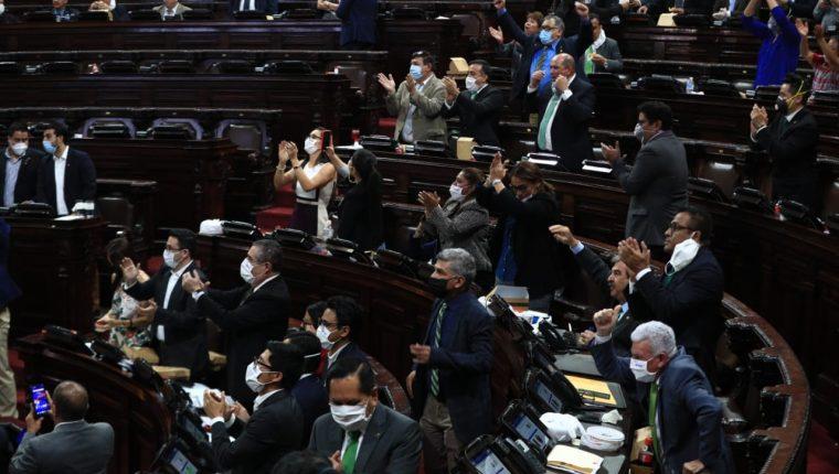 Plenaria de este 30 de abril de 2020. (Foto Prensa Libre: Carlos Hernández).