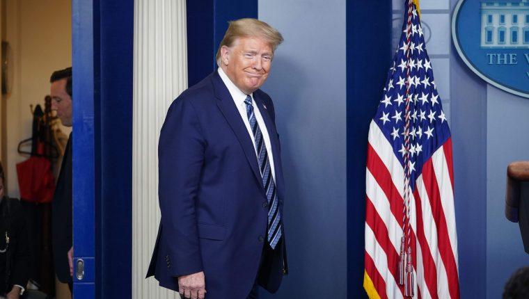 Donald Trump, durante una conferencia de prensa este 21 de abril en la Casa Blanca. (Foto Prensa Libre: AFP)