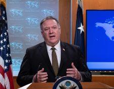 El secretario de Estado Michael R. Pompeo anunció el traslado de los recursos. (Foto Prensa Libre: AFP)