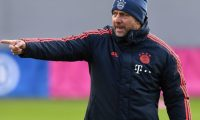 (FILES) In this file photo taken on December 10, 2019 Bayern Munich's head coach Hansi Flick attends a training session on the eve of the UEFA Champions League Group B football match between FC Bayern Munich and Tottenham Hotspur at the clubs training ground in Munich. - German Bundesliga giants Bayern Munich have handed coach Hansi Flick a new contract keeping him at the club until 2023, the club announced on April, 3, 2020. (Photo by Christof STACHE / AFP)