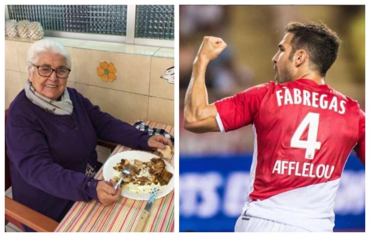 La bisabuela de Cesc Fábregas supera el coronavirus, a sus 95 años, y él le escribe una emotiva carta