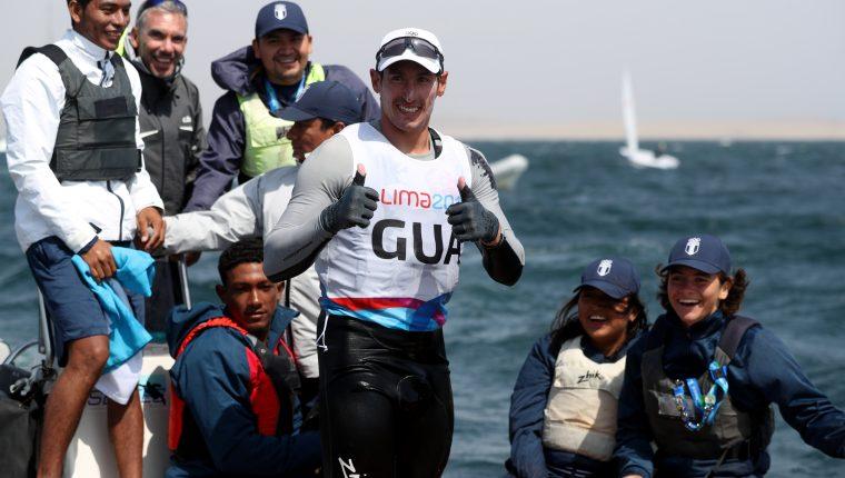La carrera de Juan Ignacio Maegli se ha desarrollado dentro del agua. (Foto Prensa Libre: Carlos Vicente)