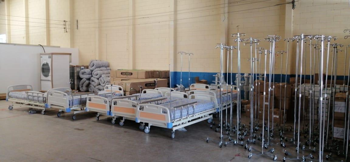 CMI aporta equipo para el hospital temporal de Quetzaltenango