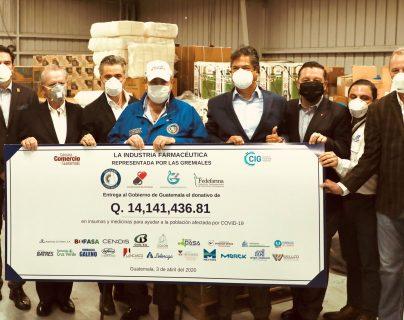 Industria Farmacéutica realizó una donación millonaria de medicamentos. Foto Prensa Libre: Cortesía