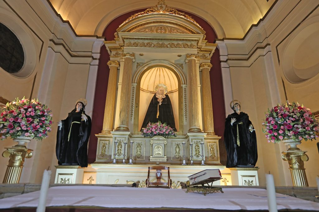 Las misas en vivo se transmiten a las 12 del mediodía en los medios oficiales de la iglesia Santo Domingo, indicó Fray Luis Roberto Aguilar OP. Foto Prensa Libre: Óscar Rivas