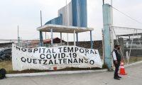 El Hospital Temporal Covid-19 Quetzaltenango funciona desde el 15 de abril y se desconoce la cifra de sus pacientes. (Foto Prensa Libre: María Longo)