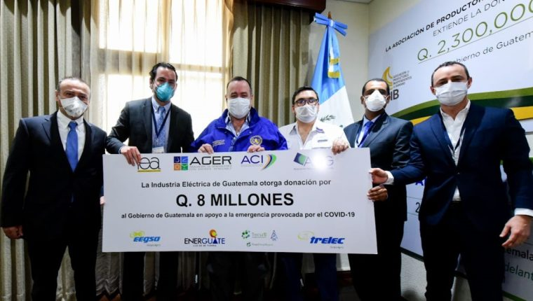 La Industria Eléctrica se une al combate del coronavirus con importante apoyo económico. Foto Prensa Libre: Cortesía