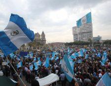 La ciudadanía se volcó a las calles todo 2015 para demandar una Guatemala sin corrupción y sin impunidad. (Foto Prensa Libre: Hemeroteca PL)