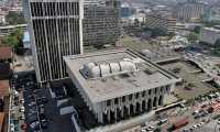 Vista aérea de la Corte Suprema de Justicia y de la Torre de Tribunales. (Foto Prensa Libre: Hemeroteca PL).