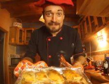 Francisco Toralla en su personaje de Panchorizo prepara deliciosas recetas. (Foto Prensa Libre: Tomada de Instagram).