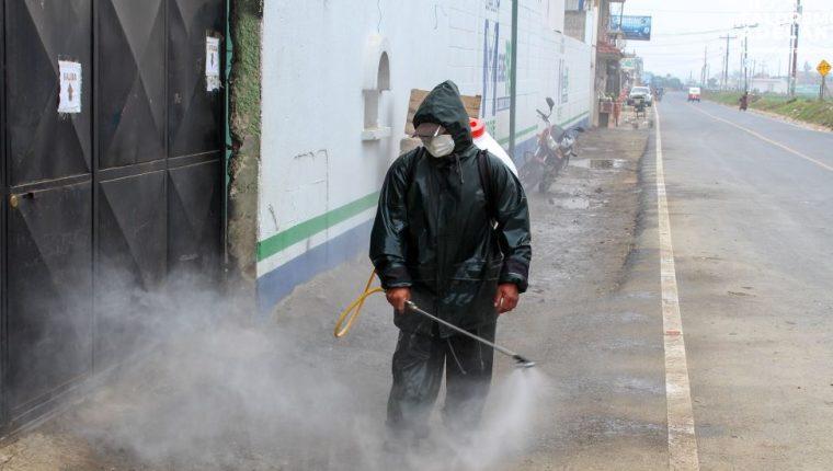 En Patzicía se llevan a cabo acciones para prevenir el coronavirus. (Foto Prensa Libre: Municipalidad de Patzicía).