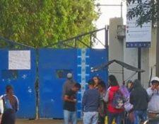 La entrada al sector de Fraijanes donde está la cárcel Pavoncito. (Foto Prensa Libre: Hemeroteca PL)