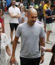 Pep Guardiola junto a su madre Dolores Sala, en Barcelona, España, en junio de 2015. (Foto Prensa Libre: EFE)