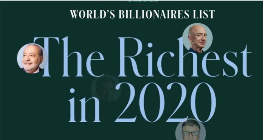 """""""Billionaires 2020"""": las mayores fortunas del mundo en plena pandemia global de coronavirus"""