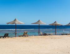 Playas desoladas en Egipto. Muchos siguen soñando con poder regresar pronto a sus destinos turísticos preferidos. Foto Prensa Libre: DPA