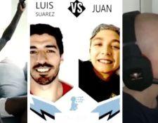 Vinícius y Luis Suárez compartieron 'online' con niños con cáncer. (Foto Prensa Libre: Youtube)
