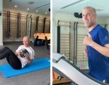 Zinedine Zidane, técnico del Real Madrid, durante su entrenamiento en casa. (Foto Prensa Libre: Instagram)