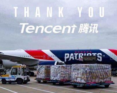 El avión de los Patriotas transportó máscaras desde China. (Foto Prensa Libre: Instagram @patriots)
