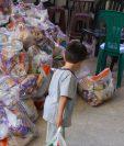 Con esta actividad se espera beneficiar a más de 600 familias afectadas por esta crisis sanitaria. Foto Prensa Libre: Cortesía