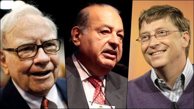 Warren Buffett, Carlos Slim y Bill Gates