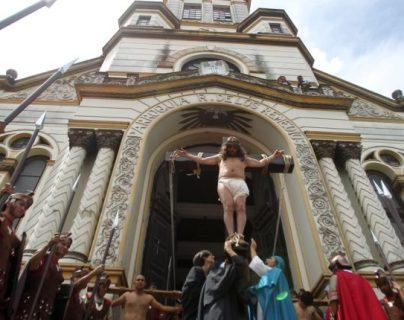 Imagen de la crucifixión de Jesús