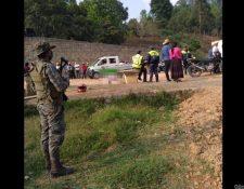 Lugar donde ocurrió el ataque armado, en la aldea Nisnic. (Foto Prensa Libre: Cortesía).