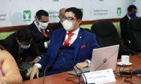 El exsecretario de Comunicación Social de la Presidencia, Carlos Sandoval, durante una citación en el Congreso. (Foto Prensa Libre: Carlos Hernández)