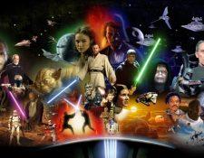 Hasta ahora se han estrenado 11 cintas de la franquicia de Star Wars. Nueve pertenecen a la saga de Skywalker, una trata del origen de Han Solo y otra narra una historia que enlaza   los episodios III y IV. (Foto Prensa Libre: HemerotecaPL)
