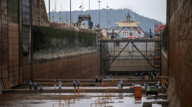 El Canal de Panamá es una de las grandes obras de la ingeniería del siglo XX. AFP