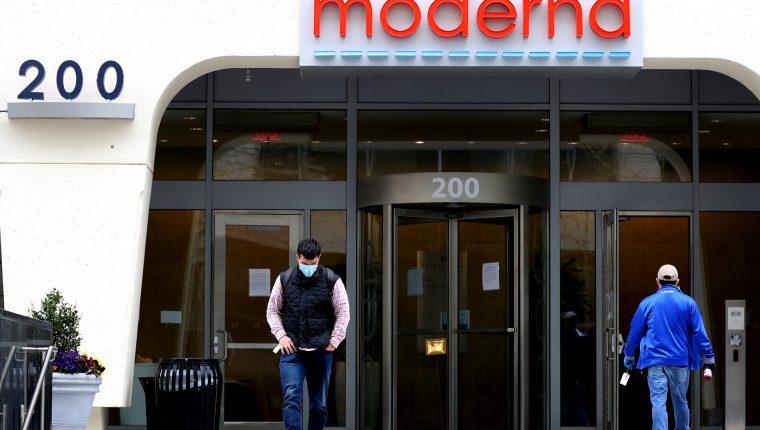 Sede de Moderna en Cambridge, Massachusetts. (Foto Prensa Libre: AFP)