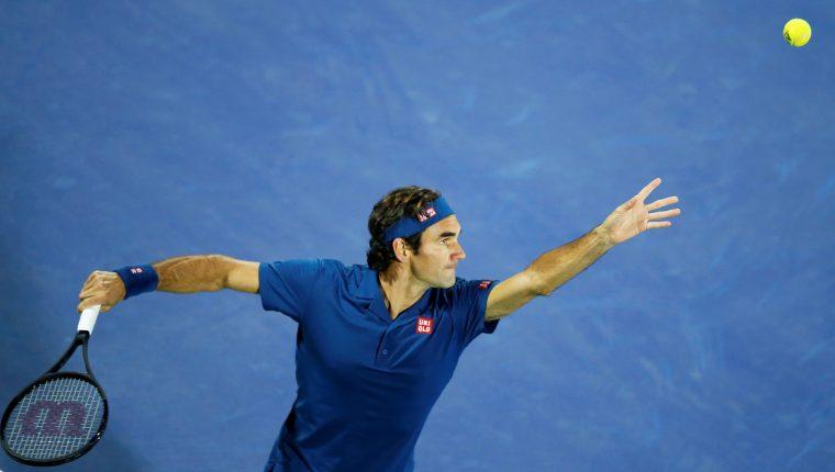 Roger Federer, tenista suizo. Foto Prensa Libre: EFE.