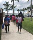 Menores migrantes en una instalación de la ORR en Homestead, Florida. (Foto Prensa Libre: Departamento de Salud de Estados Unidos)