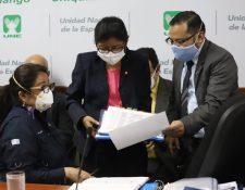 Ministra de Educación, Claudia Ruiz, en una citación con la Comisión de Derechos Humanos. Foto: Congreso/Prensa Libre