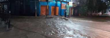 Inundación en Guastatoya, El Progreso. (Foto Prensa Libre: Conred).