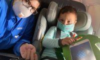 Elisa Escamilla y su hijo, Antony, estuvieron varados en Guatemala varios días; regresaron a EE. UU., donde la familia se reunió de nuevo y permanece unida. (Foto Prensa Libre: Cortesía)